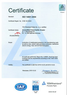 Image Iso 14001 certificate